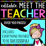 Editable Meet the Teacher Kit