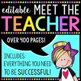 Editable Meet the Teacher Kit