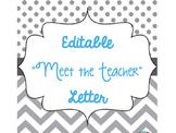 "Editable ""Meet the Teacher"" Letter"
