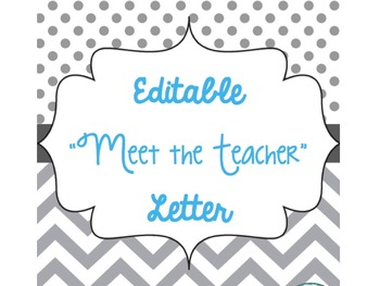 "Editable ""Meet the Teacher"" Letter"