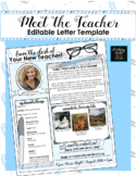 Editable Meet the Teacher Letter (Blue Paperclips Theme)