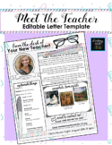 Editable Meet the Teacher Letter (Mint,Coral,&Purple Paper