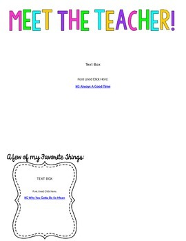 Editable Meet the Teacher Letter Template *Freebie*