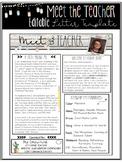 Editable Meet the Teacher Letter Template Shabby Chic Design