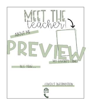 Editable Meet the Teacher Letter (Farmhouse Decor)