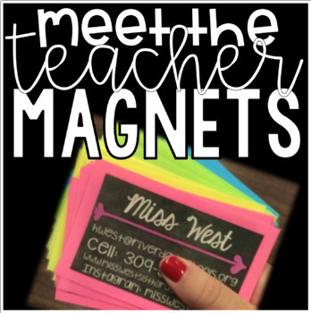 Editable Meet the Teacher Magnets