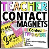 Editable Meet the Teacher Magnets