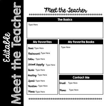 Editable Meet the Teacher (Melonheadz Edition) 2 Versions