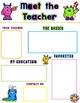 Editable Meet the Teacher-Monster Template