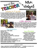 Editable Meet the Teacher Newsletter