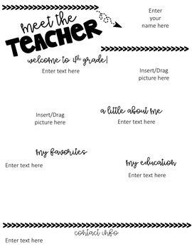 Editable Meet the Teacher Newsletter