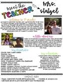 Editable Meet the Teacher Newsletter Template
