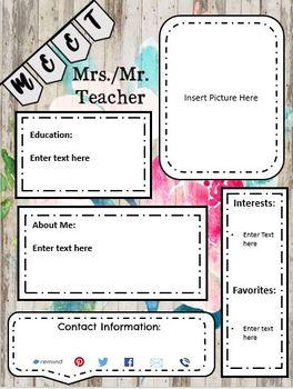 Editable Farmhouse Meet the Teacher Newsletter