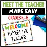Back to School- Meet the Teacher Editable Templates