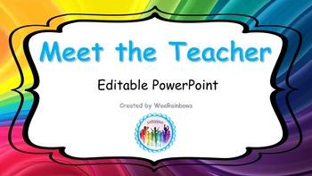 """Editable """"Meet the Teacher"""" Power Point"""