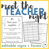 Editable Meet the Teacher Resources | Signs, Welcome Letter, Survey, Sign-Ups