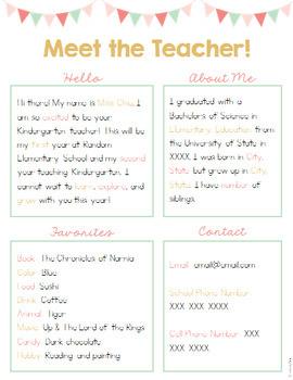 Editable Meet the Teacher - Rustic Theme