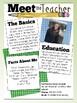 Editable Meet the Teacher Sheet
