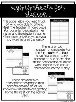 Editable Meet the Teacher Stations