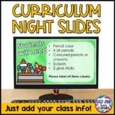 Back to School Night Powerpoint Editable {Curriculum Night Powerpoint}