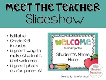 Editable Meet the Teacher Slideshow