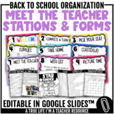 Editable Meet the Teacher | Sneak a Peek | Open House Stations & Forms