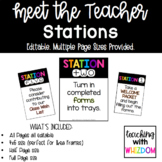 Editable Meet the Teacher Station Signs