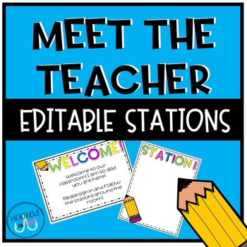 Editable Meet the Teacher Stations