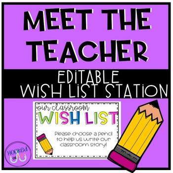 Meet the Teacher Wish List Stations