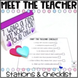 Editable Meet the Teacher Stations and Checklist #julydealspkto1