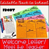 Meet the Teacher Template, Back to School Welcome Letter (Editable)