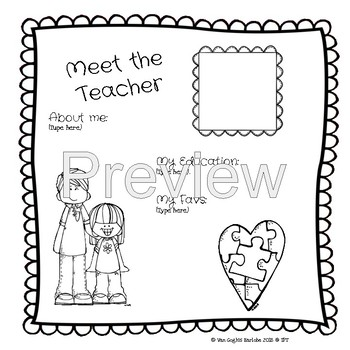Editable Meet the Special Education Teacher Templates