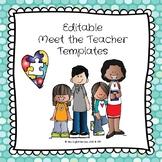 Editable Meet the Special Education Teacher Templates