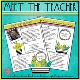 Editable Meet the Teacher Templates: Succulent Theme