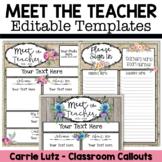 Editable Meet the Teacher Templates Water Color, Burlap, D