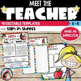 Meet the Teacher Templates Editable