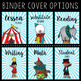 Editable Melonheadz Circus Binder Covers & Spines
