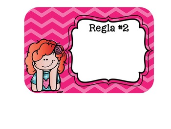 Editable Melonheadz Classroom Rules *English, Spanish, and Blank Cards Available
