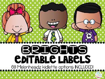 Editable Melonheadz Labels