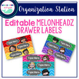 Editable Melonheadz Organizing Drawer Labels