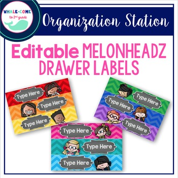 Editable Melonheadz Organizing Drawer Labels
