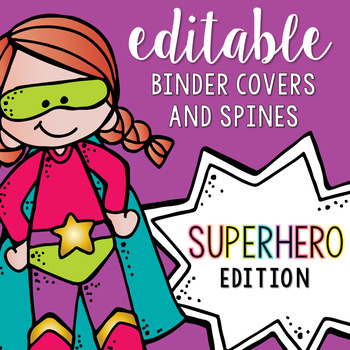 Editable Melonheadz Superhero Binder Covers and Spines by ...