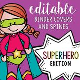 Editable Melonheadz Superhero Binder Covers and Spines
