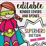 Editable Melonheadz Superhero Binder Covers and Spines Ext