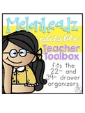 Editable Melonheadz Teacher Toolbox Labels { fits 22- and