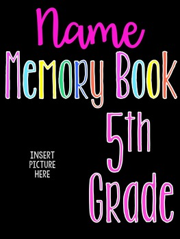 Editable Memory Book Cover Template