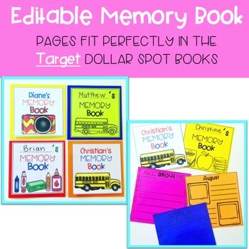 Editable Memory Book for the Target Dollar Spot Books