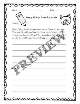 Editable Mercy Watson Question Set *Word Version*