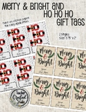 Editable Merry Christmas and Ho Ho Ho Gift Tags