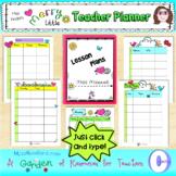 Editable Merry Little Teacher Planner